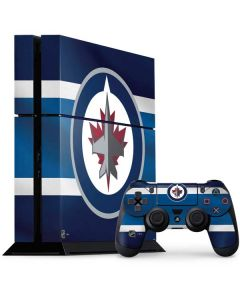 Winnipeg Jets Alternate Jersey PS4 Console and Controller Bundle Skin