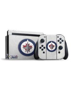 Winnipeg Jets Distressed Nintendo Switch Bundle Skin