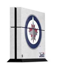 Winnipeg Jets Distressed PS4 Console Skin
