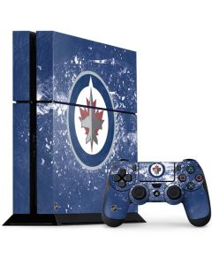 Winnipeg Jets Frozen PS4 Console and Controller Bundle Skin