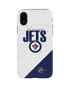 Winnipeg Jets Script iPhone XR Pro Case