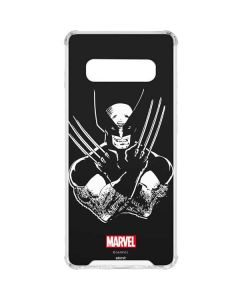 Wolverine Black and White Galaxy S10 Plus Clear Case