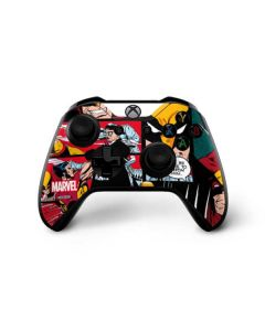 Wolverine Comic Collage Xbox One X Controller Skin