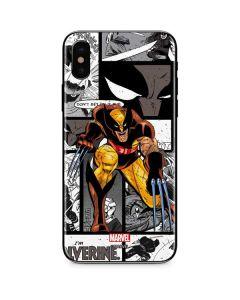 Wolverine Comic Strip iPhone XS Max Skin