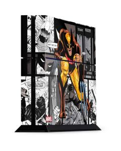 Wolverine Comic Strip PS4 Console Skin