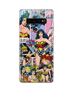 Wonder Woman Comic Blast Galaxy S10 Plus Skin