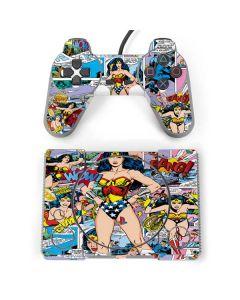 Wonder Woman Comic Blast PlayStation Classic Bundle Skin