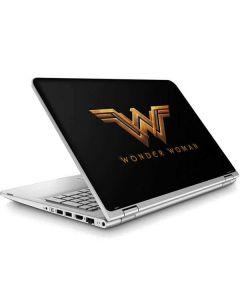 Wonder Woman Gold Logo ENVY x360 15t-w200 Touch Convertible Laptop Skin