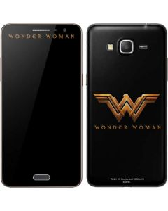 Wonder Woman Gold Logo Galaxy Grand Prime Skin