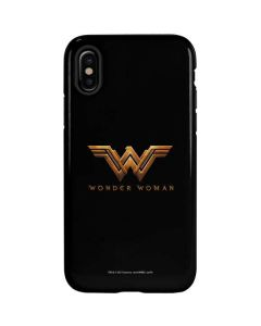 Wonder Woman Gold Logo iPhone X Pro Case