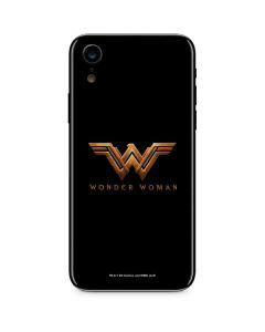 Wonder Woman Gold Logo iPhone XR Skin