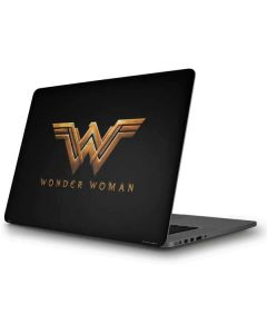 Wonder Woman Gold Logo Apple MacBook Pro Skin
