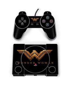 Wonder Woman Gold Logo PlayStation Classic Bundle Skin