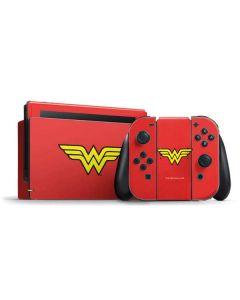 Wonder Woman Official Logo Nintendo Switch Bundle Skin
