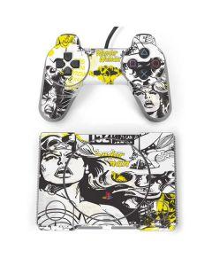 Wonder Woman Vintage Comic PlayStation Classic Bundle Skin