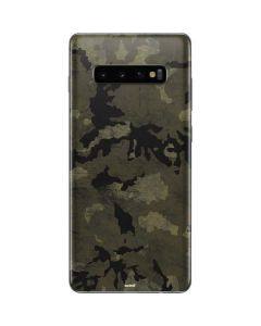Wood Camo Galaxy S10 Plus Skin