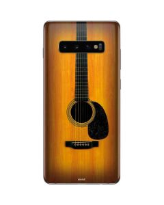 Wood Guitar Galaxy S10 Plus Skin