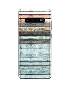 Wooden Stripes Galaxy S10 Plus Skin