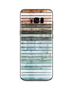 Wooden Stripes Galaxy S8 Plus Skin