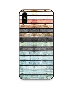 Wooden Stripes iPhone XS Max Skin