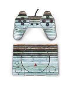 Wooden Stripes PlayStation Classic Bundle Skin