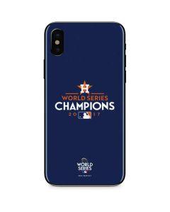 World Series Champions 2017 Houston Astros iPhone X Skin
