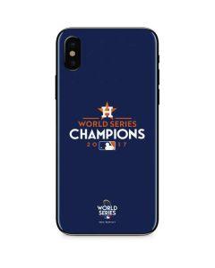 World Series Champions 2017 Houston Astros iPhone XS Skin