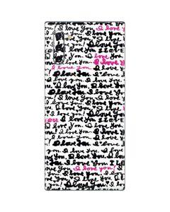 Written Love Galaxy Note 10 Skin
