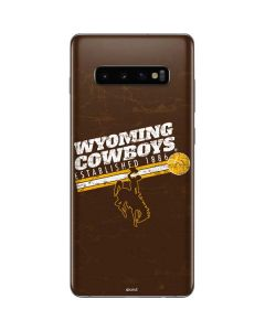 Wyoming Cowboys Est 1886 Galaxy S10 Plus Skin
