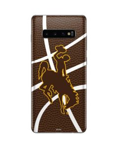 Wyoming Cowboys Leather Galaxy S10 Plus Skin