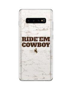 Wyoming Cowboys Ride Em Cowboy Galaxy S10 Plus Skin