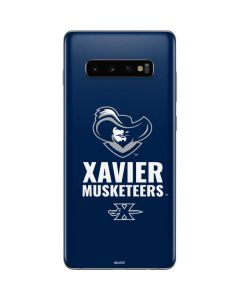 Xavier Musketeers Mascot Blue Galaxy S10 Plus Skin