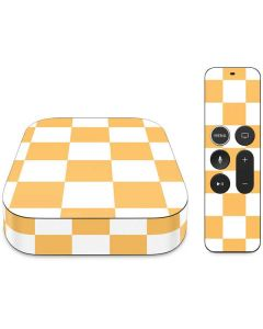 Yellow and White Checkerboard Apple TV Skin