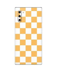 Yellow and White Checkerboard Galaxy Note 10 Skin