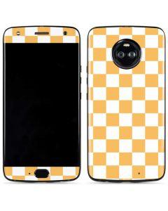 Yellow and White Checkerboard Moto X4 Skin