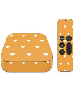 Yellow and White Hearts Apple TV Skin