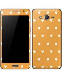 Yellow and White Hearts Galaxy Grand Prime Skin