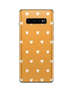 Yellow and White Hearts Galaxy S10 Plus Skin
