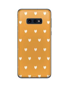 Yellow and White Hearts Galaxy S10e Skin