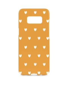 Yellow and White Hearts Galaxy S8 Plus Lite Case