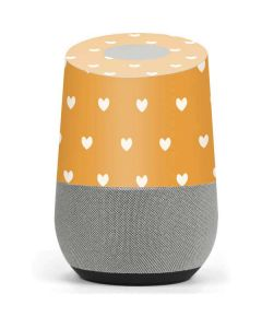 Yellow and White Hearts Google Home Skin