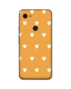 Yellow and White Hearts Google Pixel 3a Skin