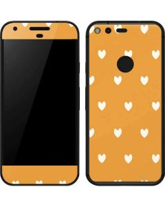 Yellow and White Hearts Google Pixel Skin
