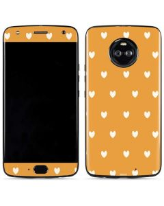 Yellow and White Hearts Moto X4 Skin