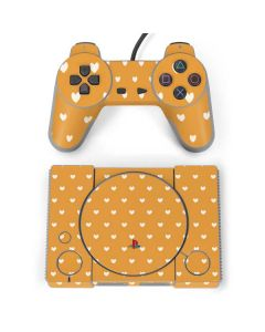 Yellow and White Hearts PlayStation Classic Bundle Skin