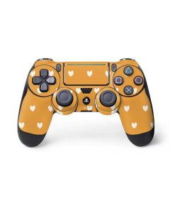 Yellow and White Hearts PS4 Pro/Slim Controller Skin