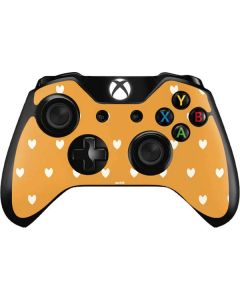 Yellow and White Hearts Xbox One Controller Skin