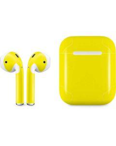 Yellow Apple AirPods Skin