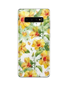 Yellow Hibiscus Galaxy S10 Plus Skin