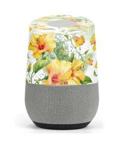 Yellow Hibiscus Google Home Skin